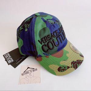 ⭕️ VERSACE JEANS Hat Cap Camouflage Green Camo